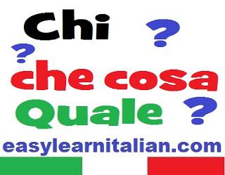 italian interrogatives