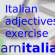 Italian descriptive Adjectives – Exercise (2)