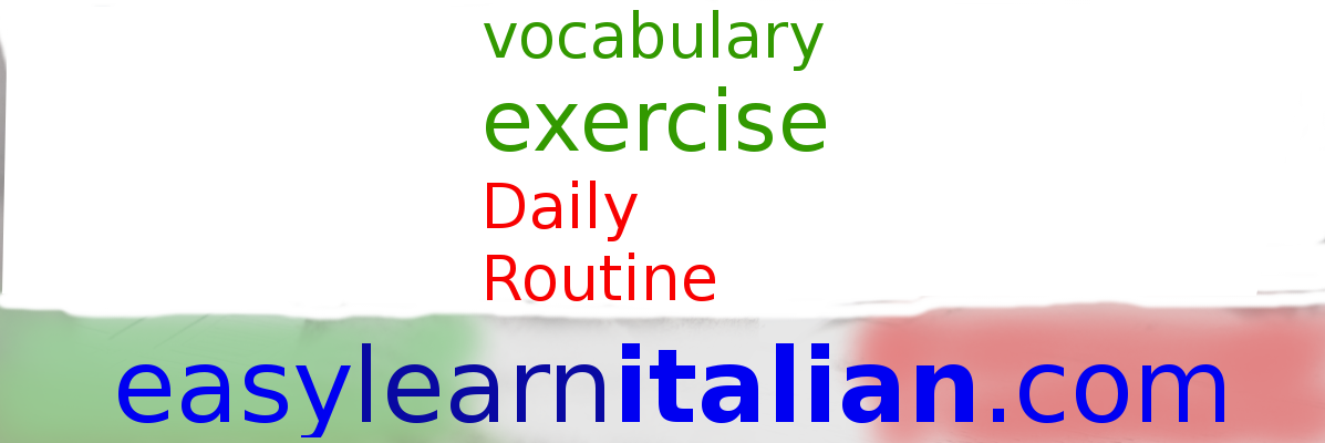 Daily routine in Italian